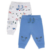 greyPrint Joggers - Pack Of 2