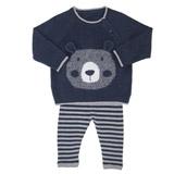navyTwo Piece Bear Knit Set