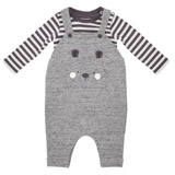grey Bear Club Dungaree Set