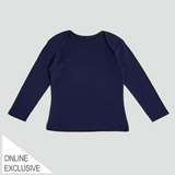 navy Envelope Neck Top (2-8 Years)