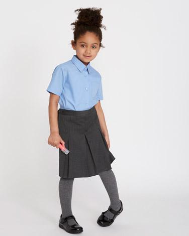 Easy-Care Short-Sleeved Blouses - Pack Of 2