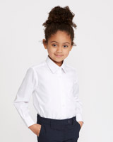 white Ultimate Non-Iron Long-Sleeved Blouses - Pack Of 2