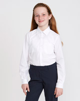 white Slim Fit Non-Iron Long-Sleeved Blouse - Pack Of 2