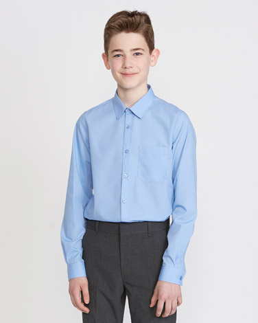 ac802067 Boys Shirts and Polos | GREY Slim Fit Ultimate Non-Iron Long-Sleeved ...
