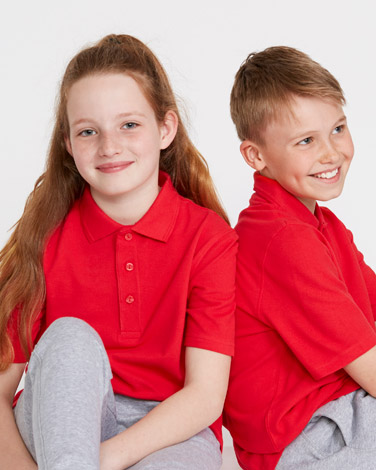 redUnisex Pure Cotton Short-Sleeved Polo Shirts - Pack Of 2