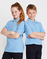 blue Unisex Pure Cotton Short-Sleeved Polo Shirts - Pack Of 2