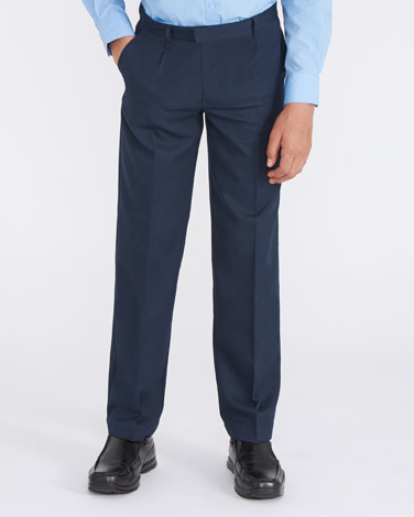 Rigid Waist Pleat Front Trousers