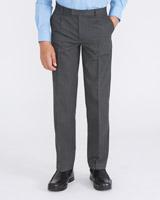 greyRigid Waist Pleat Front Trousers