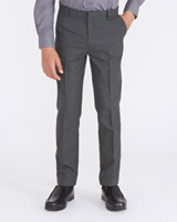 grey Boys Slim Leg Trousers