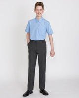 grey Boys Regular Leg Trousers