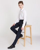 navy Boys Slim Leg Trousers