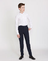 navy Boys Skinny Leg Trousers