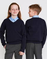 navy Unisex Cotton Rich Jumper