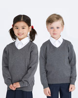 grey Unisex Cotton Blend Jumper