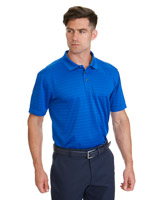 blue Pádraig Harrington Jacquard Stripe Polo (UPF 50)