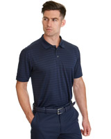 navy Pádraig Harrington Jacquard Stripe Navy Polo (UPF 50)