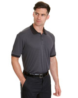black Pádraig Harrington Birdseye Polo