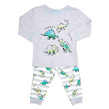 grey-marl Boys Dinosaur Pyjamas