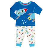 blue Boys Rocket Pyjamas
