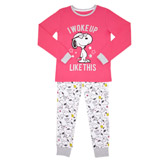 pink Girls Snoopy Pyjamas