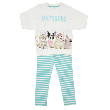 36cd97a847 winter-white Girls Nap Squad Pyjamas