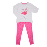 grey-marl Flamingo Pyjamas