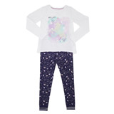 winter-whiteGirls Sequin Unicorn Pyjamas