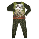 khaki Boys Jurassic World Pyjamas