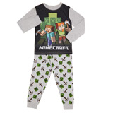 grey-marl Boys Minecraft Pyjamas