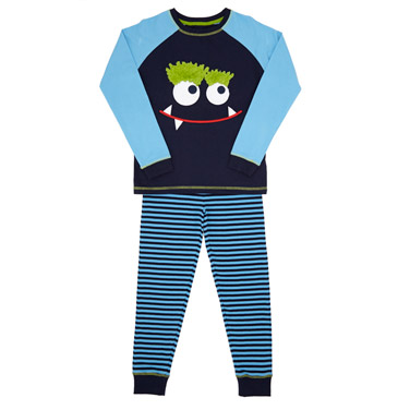 16ddcb544c navy Boys Monster Pyjamas