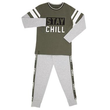 dc96b4daa4f3d Boys Monster Pyjamas. from €10.00 to €12.00. khaki Embossed Pyjama Set