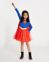blue Girls Supergirl Costume