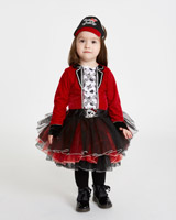 red Toddler Pirate Girl