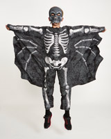 black Bat Skeleton Costume