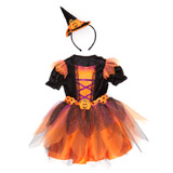 orange Toddler Pumpkin Witch