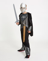 black Zombie Warrior Costume