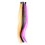 purple Hair Extensions Set