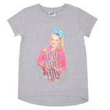 grey Girls Jojo T-Shirt (4-10 years)