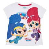 white Girls Shimmer And Shine T-Shirt