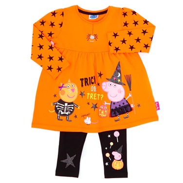 7e3a1e18 orange Girls Peppa Pig Halloween Set