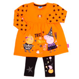 orange Girls Peppa Pig Halloween Set