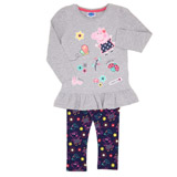 grey Girls Peppa Two Piece Set