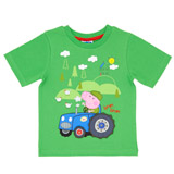 green Boys George Pig T-Shirt