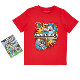 red Boys Minecraft T-Shirt (5-13 years)