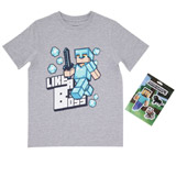 grey Boys Minecraft Like A Boss T-Shirt (5-13 years)