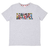 grey Boys Marvel Logo T-Shirt (5-13 years)