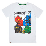 white Boys Lego Ninjago T-Shirt (4-10 years)
