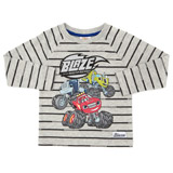 grey Boys Blaze Stripe Top