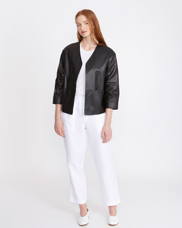 ba6a78c6923 Carolyn Donnelly The Edit Leather Jacket