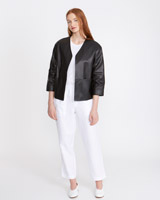 black Carolyn Donnelly The Edit Leather Jacket